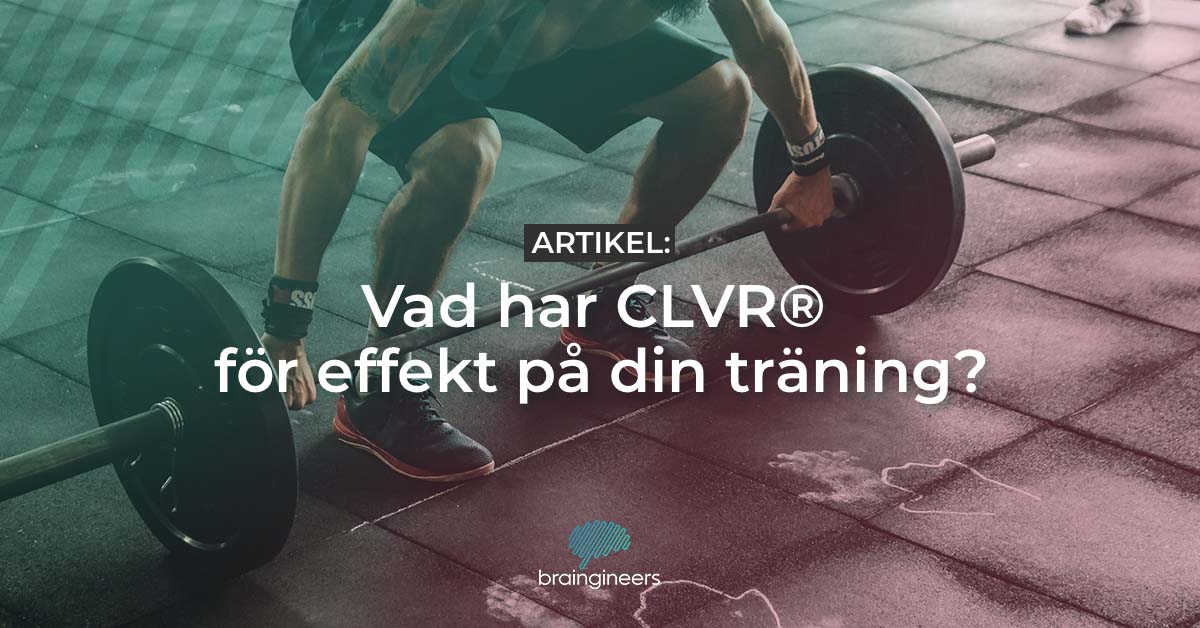 Workout and lifting weights with CLVR®
