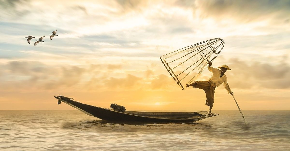 Fisherman on a boat